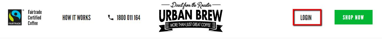 Urban Brew login button