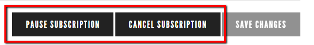 Urban Brew pause and cancel subscription buttons