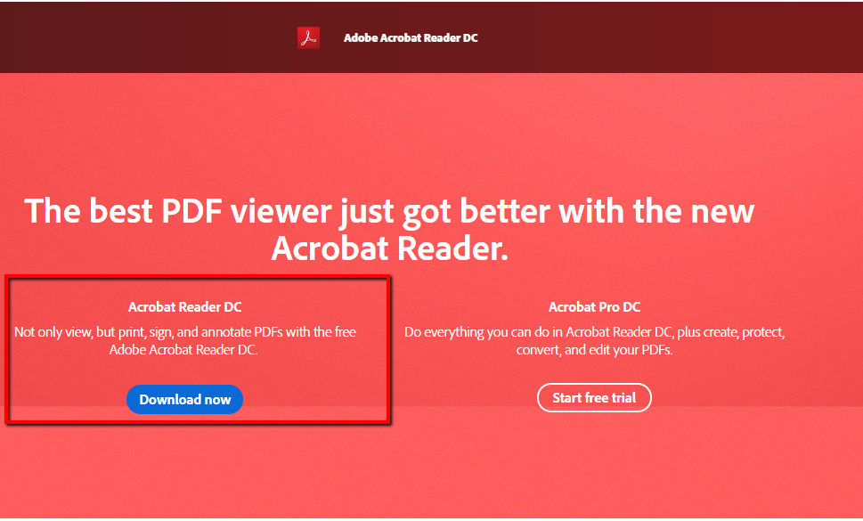 Adobe - download acrobat reader