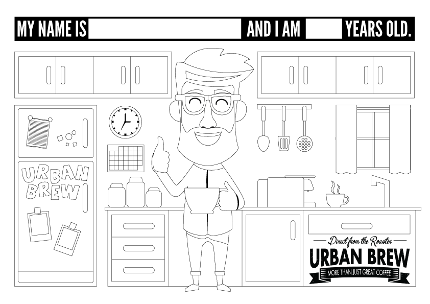 Urban Brew Colouring-In Printable