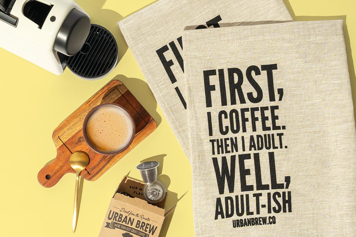Urban Brew Coffee Pods September Giveaway Linen Tea Towels