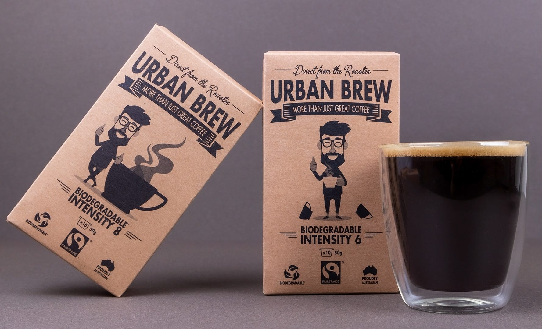 Long Black Urban Brew Strong #8 and Medium #6 Nespresso Compatible pods