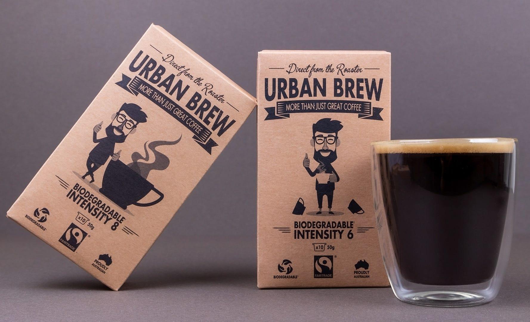 Urban Brew Coffee Pods Long Black