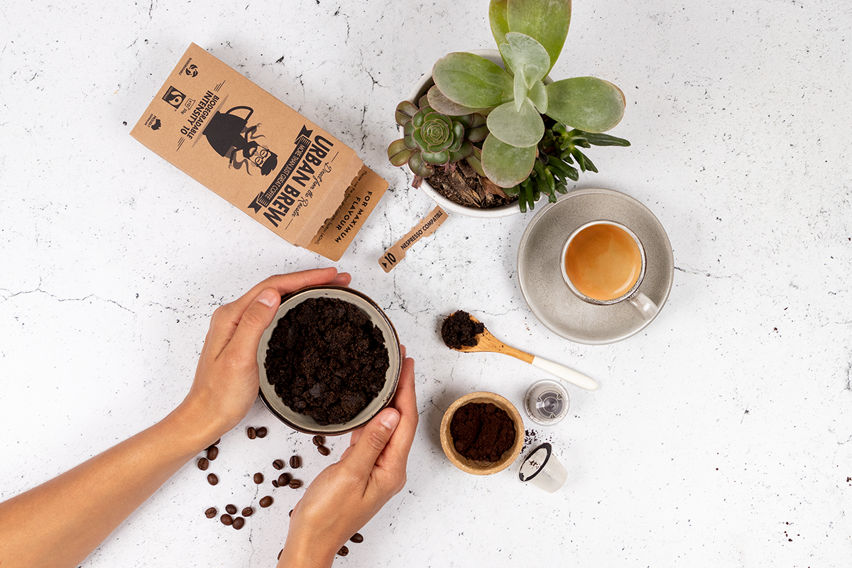 DIY Coffee Scrub with Leftover Urban Brew Coffee Pods